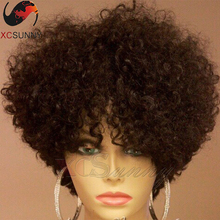 Brazilian Human Hair Full Lace Wigs Virgin Hair Kinky Curly Glueless Full Lace Wigs For Black Women Short Hair Lace Front Wigs