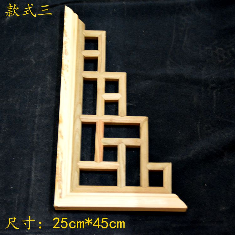 Dongyang woodcarving lattice c.flower elm wood Chinese style wooden lattice partition gusset ceiling beam background dongyang wood carving wood floor screens to zhangmu seat screen chinese rosin plaque entrance room partition