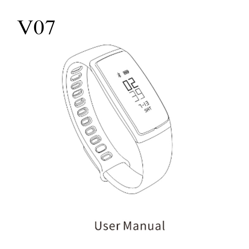 [ English User Manual ] Complete Guider for V07 Heart rate