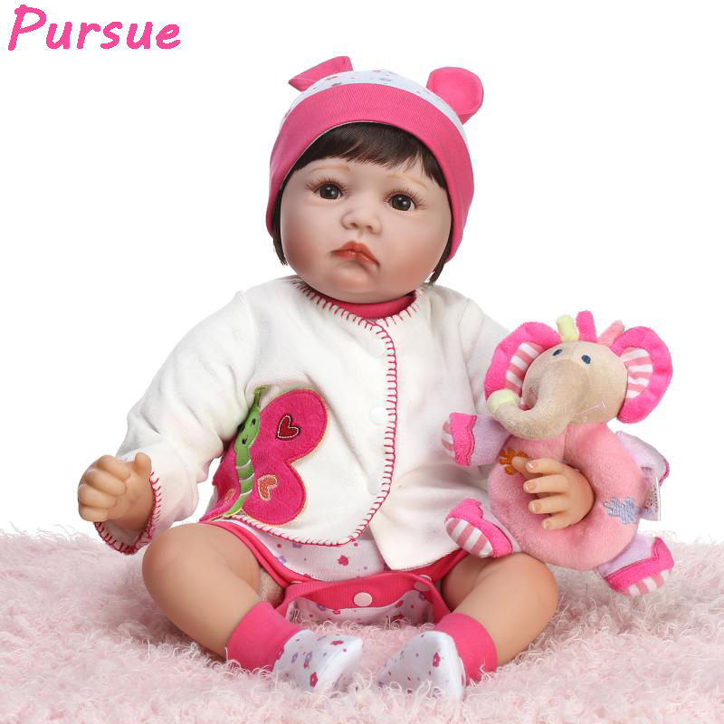 Pursue Reborn Dolls Babies Silicone Baby Dolls Toys for Children American Girl Doll for Sale Toys for Girls boneca bebe reborn pursue 20 inch doll reborn babies american girl doll toys for girls kids silicone baby princess doll bebe reborn silicone menina