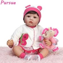 Poursuivre Reborn Poupées Bébés Silicone Baby Dolls Toys pour Enfants American Girl Poupée pour Vente Toys pour Filles boneca bebe reborn