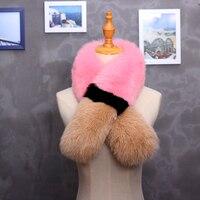 Glaforny 2017 Fox Fur Scarf Women Fur Accessory