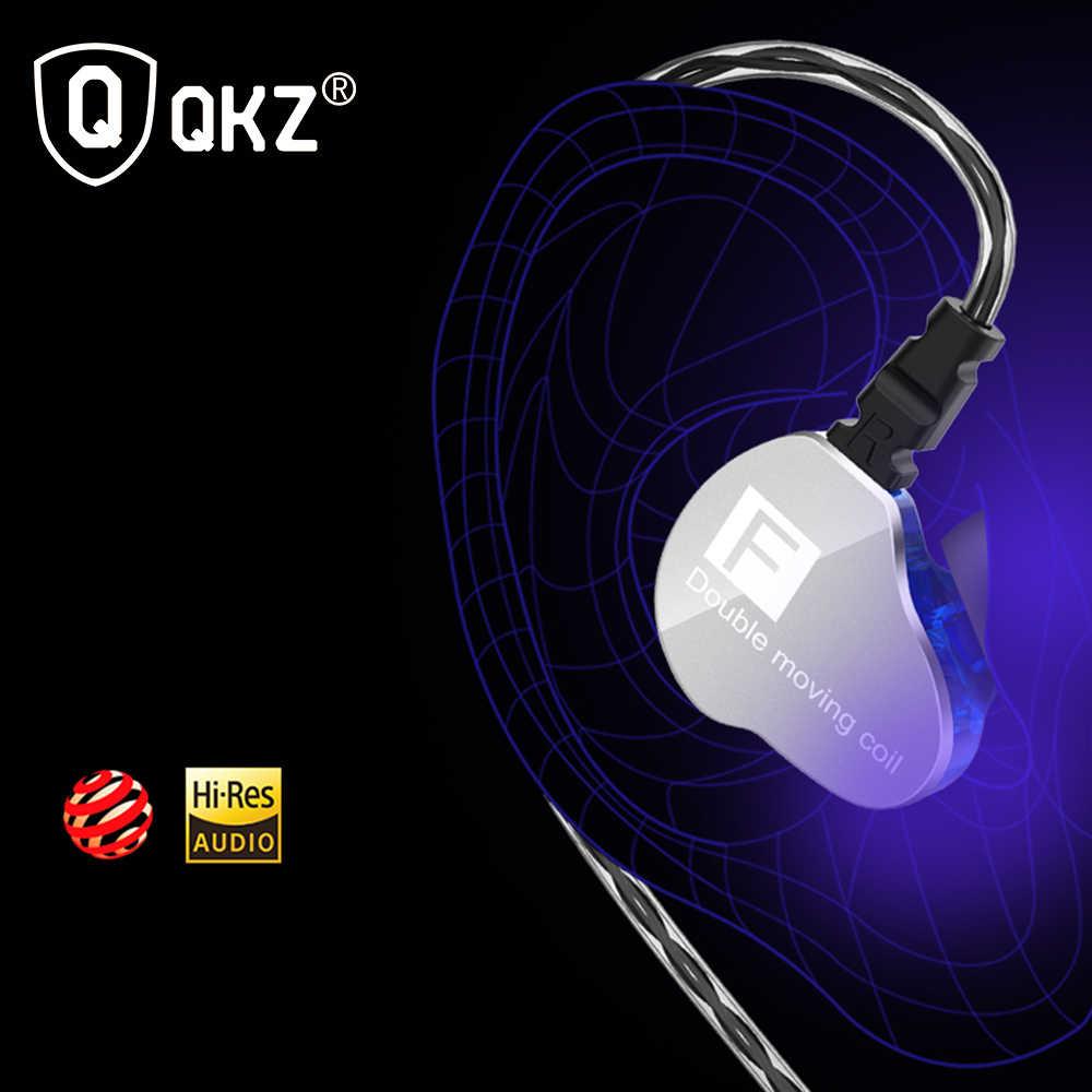 QKZ CK9 المزدوج السائقين سماعة سوبر باس الرياضة أطراف سماعات الأذن مع سماعة استيريو ومايك سماعة الموسيقى للهاتف فون Xiaomi سامسونج