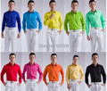 Free shipping candy color multi mens tuxedo shirts