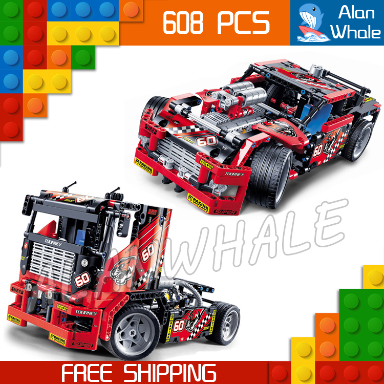 608pcs 3360 2in1 Technic Limited Edition Set Race Truck Model Building Blocks Bricks Boys Toys Compatible with Lego 8 in 1 military ship building blocks toys for boys