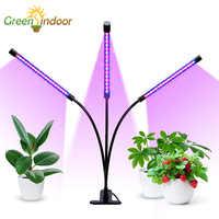 Innen Wachsen Lampe Volle Geführte spektrum Wachsen Licht Phyto Lampe Für Pflanzen Mit Timer Funktion Und USB Led Fitolampy Fitolamp wachsen