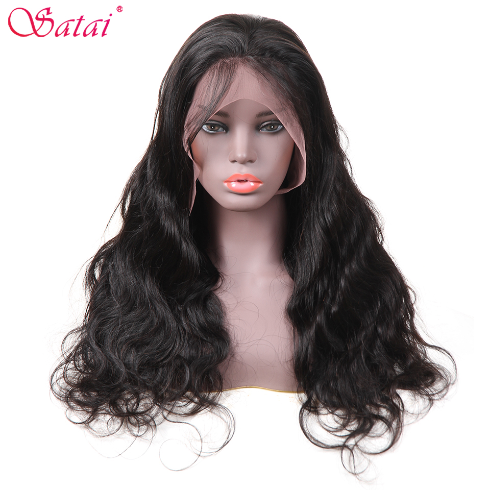Satai Peruvian Body Wave Lace Front Wigs Human Hair For Women Pre Plucked Hairline With Baby