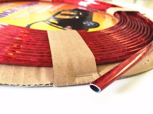 """8metres x 6MM Glitter Red CHROME TRIM STRIP BUMPER AIR VENT GRILLE SWITCH RIM MOULDING """"U"""" STYLE POLISHED REFLECTIVE"""