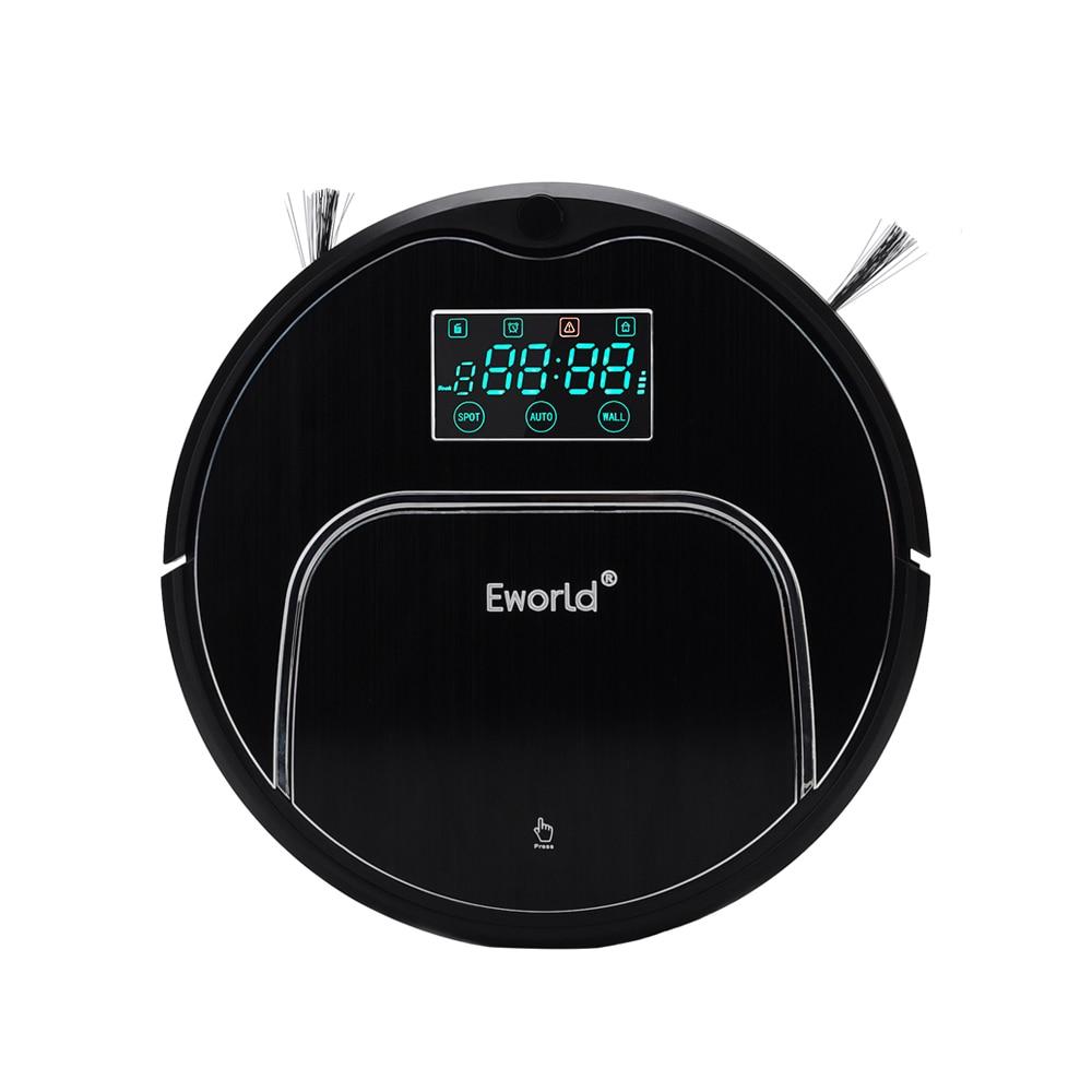 (Libre à l'europe) Eworld M883 robot aspirateur automatique pour la maison avec télécommande LCD, plus grand coffre à poussière