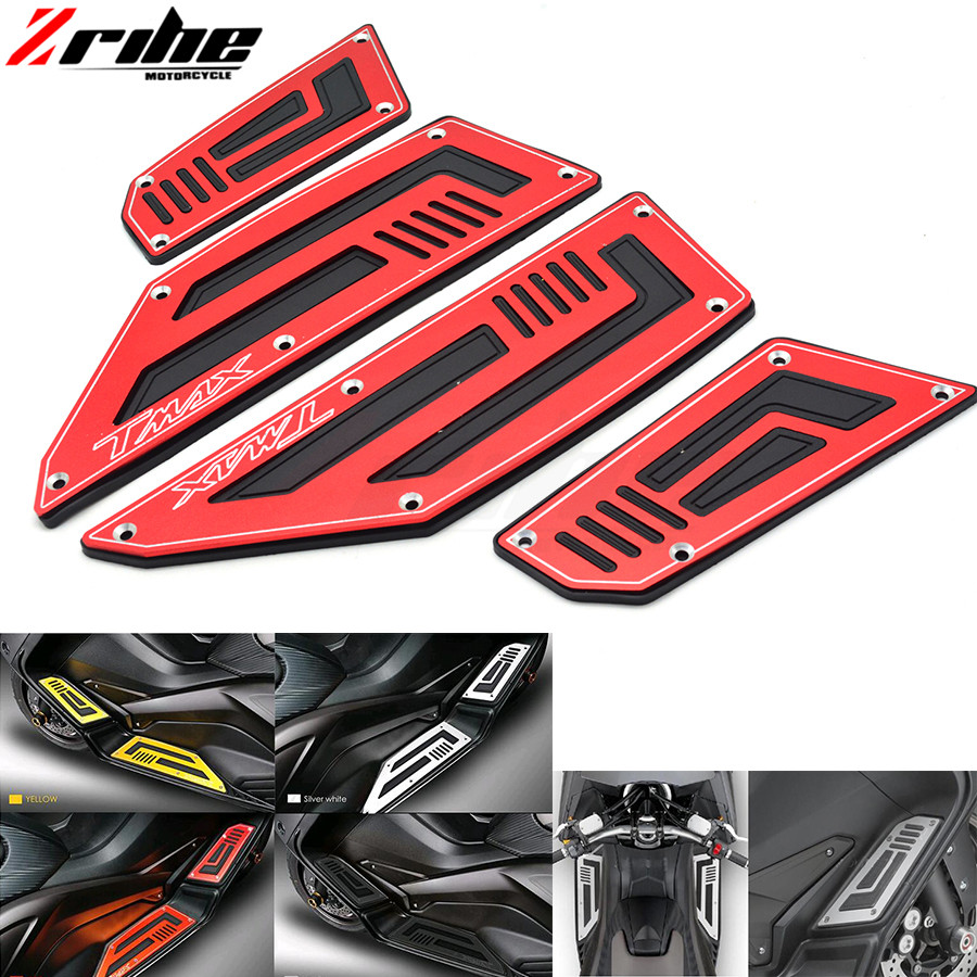for Footrest Pedal Motorcycle Front & Rear Motorbike Footboard Steps Foot Plate for Yamaha TMax530 T Max TMax 530 2012 2013 14 1 billet rear hub carriers for losi 5ive t