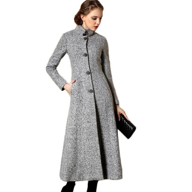 2017 printemps femmes de x longue laine manteau puls. Black Bedroom Furniture Sets. Home Design Ideas
