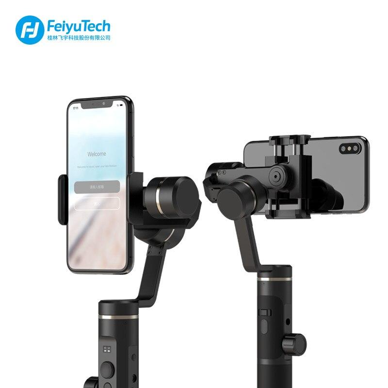 FeiyuTech Feiyu SPG2 3-Axes De Poche Stabilisateur Cardan pour Smartphone d'action caméra iphone XS X Max 7 8 6 gopro 7 PK DJI osmo