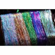 Tigofly 5 пачек разноцветные 0,3 мм Flashabou голографические блестки на плоской подошве из материала майлар с украшением в виде кристаллов Flash форель трубка нахлыстом мушек материалы