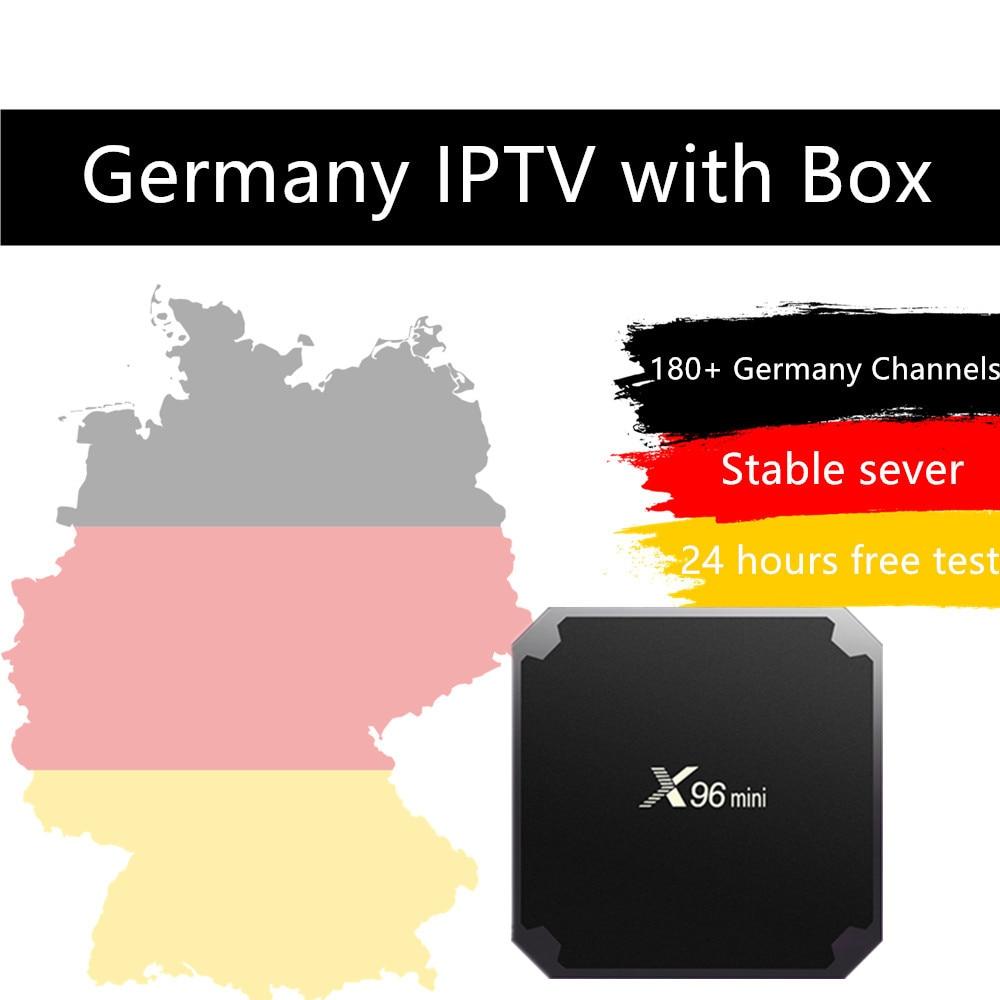 Germany IPTV box X96mini Amlogic S905W Quad Core Android 7.1.2 2G/16G 4K*2K IPTV Italy iptv 20,000 vod 3,000 live Android tv box germany north 1 500 000