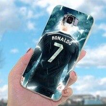 Soft TPU Cases for Samsung Galaxy A50 Case Real Football Cristiano Ronaldo CR7 Cover A30 A3 A6 Plus A5 A7 A8 A9 A10 A40 A20 A70