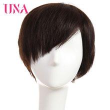 Pelucas de cabello humano UNA pelucas a media mano no Remy cabello humano malasio pelucas de cabello humano recto corto pelucas de cabello humano