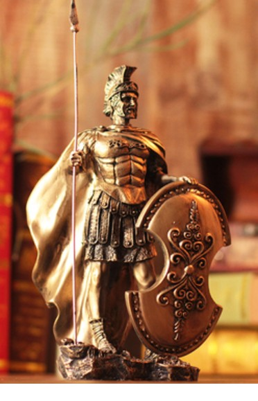 Medieval knight armor model vintage Roman armor warrior creative bar set with home accessories warriors decoration Crafts Arts