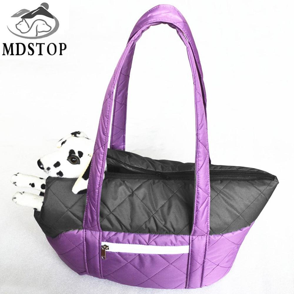 MDSTOP chihuahua husdjur bärbar handväska för hund kattbärare vinter varm komfort resor kvinnor axelväska tote sling pack för hundar