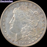 Untied States 1901 90% Bạc Morgan One Dollar Sao Chép Coin/Gần với Coins Gốc