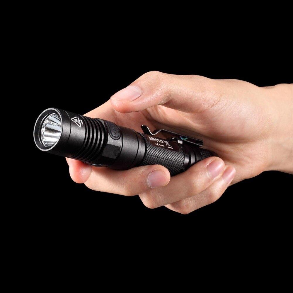 TOPSALE NITECORE MH10 1000LM U2 светодиодный USB Перезаряжаемый фонарик для походов и походов, рыбалки без аккумулятора 18650, бесплатная доставка - 5
