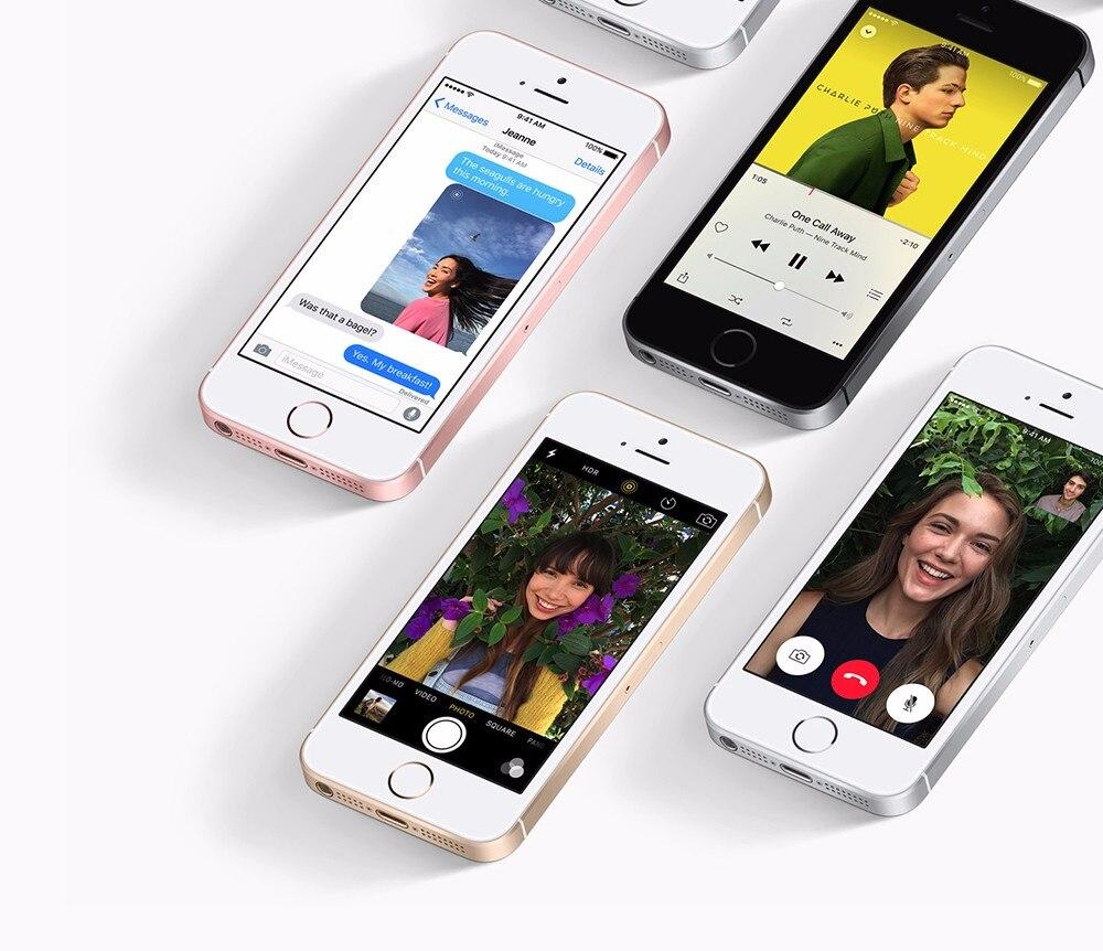 Мобильный телефон Apple iphone SE a1723/A1662, 2 Гб ОЗУ, 16 ГБ/64 Гб ПЗУ, 4,0 дюймов, многоязычный двухъядерный смартфон iOS