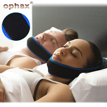 OPHAX Sleeping Care Tools Neoprene Anti Snore Cpap Stop Snoring Chin Strap Belt Anti Apnea Jaw Solution Sleep Support Apnea Belt anti snore chin strap stop snoring snore belt sleep apnea chin support straps for woman man health care sleeping aid tools
