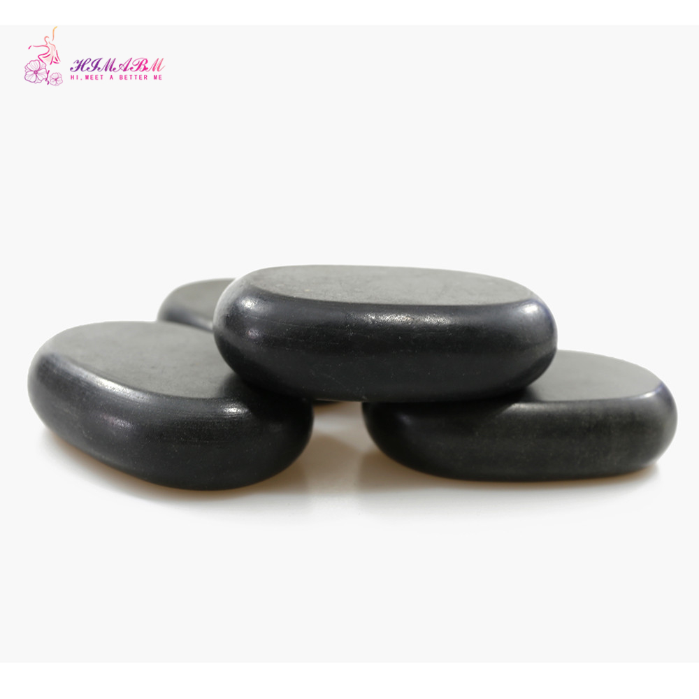 HIMABM 11 7 3cm Natrual Hot Spa Large Black Basalt Stone Massage Essential Oil Massage Stone Volcanic for Sacrum in Massage Relaxation from Beauty Health