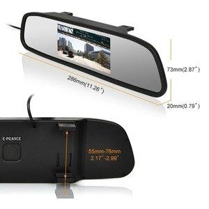 Image 3 - Viecar سيارة مرآة الرؤية الخلفية رصد مع للرؤية الليلية عكس كاميرا الرؤية الخلفية 4.3 بوصة شاشة عرض مرآة رصد