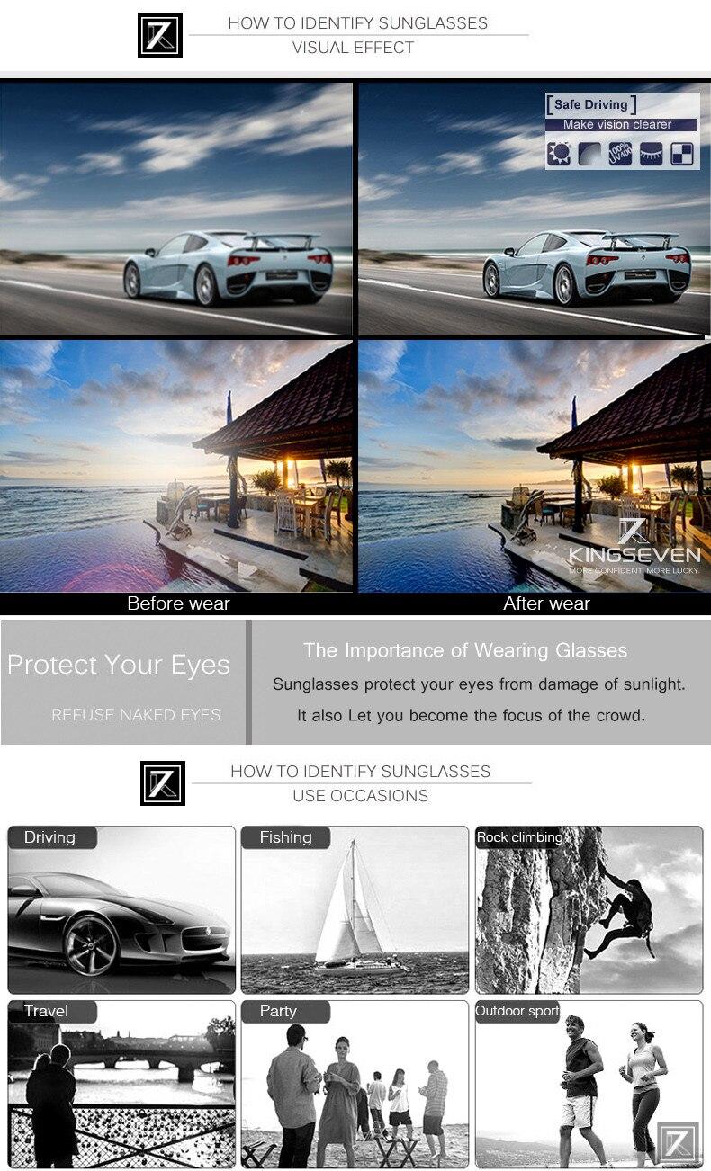 Hot! With 6 Accessories Kingseven Brand Designer Aviator Polarized Sunglasses Men Driving Sport Sun Glasses Women Oculos 11