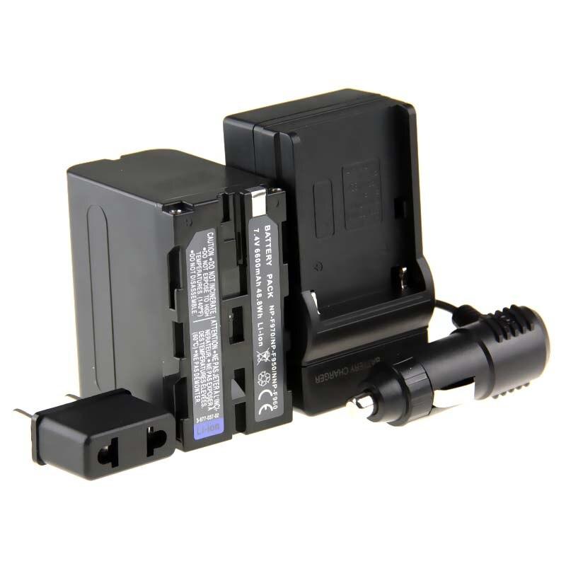 Hot Sale (3pcs/1set) 1pcs NP-F970 NP F970 NPF970 Li-ion Camera Battery + Charger + Car Charger For Sony NP-F960 NP-F950 NP-F930 2x np f970 battery charger for sony dcrvx2100 hdrfx1 hdrfx7 hd1000u hvrz1u pm092