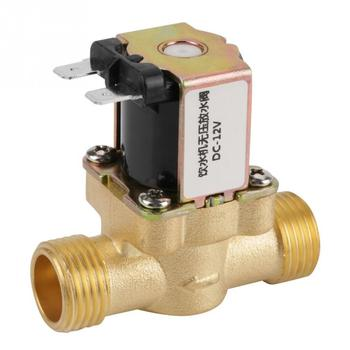 цена на 12V BSPP G12 Brass Solenoid Valve For Water NC Normally  Electric Solenoid Valve 2 Way Pressure Regulating Valve