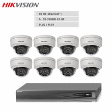 CCTV Kit 3MP DS-2CD2132F-I H.265 IP WEB IR Dome Camera 1080P POE With 8CH NVR 8 POE 2 SATA Video Recorder Surveillance System