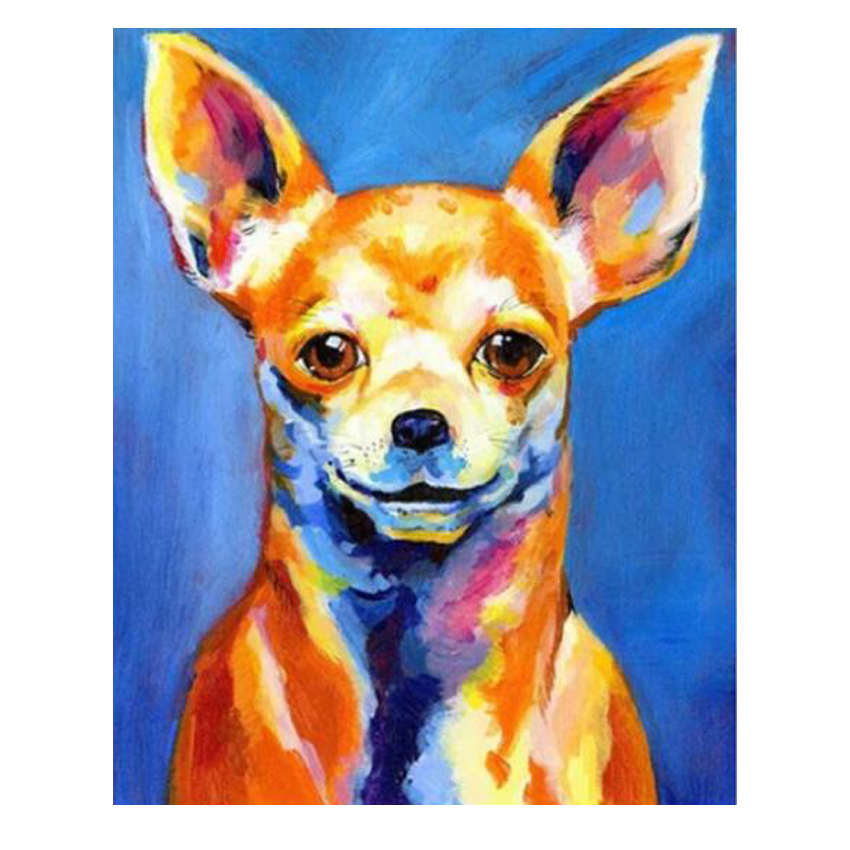 Drawing By Numbers,Colorful Dog,Diy Oil Painting Numbers,Paint Number Kits
