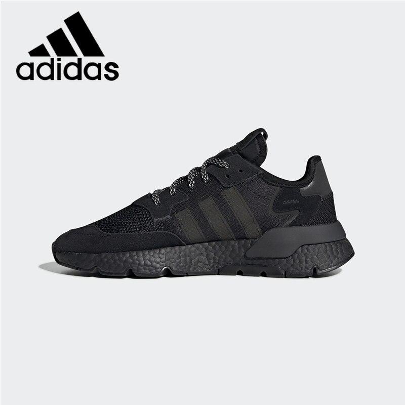 Survêtement officiel authentique Adidas Originals Nite chaussures de course pour hommes et femmes baskets respirantes absorbant les chocs BD7954