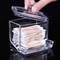 Melhores preços!!! Acrílico Algodão Cotonete Organizador Caso Recipiente de Armazenamento Caixa Portátil Make up Cotton & Pad Caixa para o Escritório Home Hotel