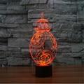 Визуальный светодиодный фонарь-лампа с трехмерным эффектом