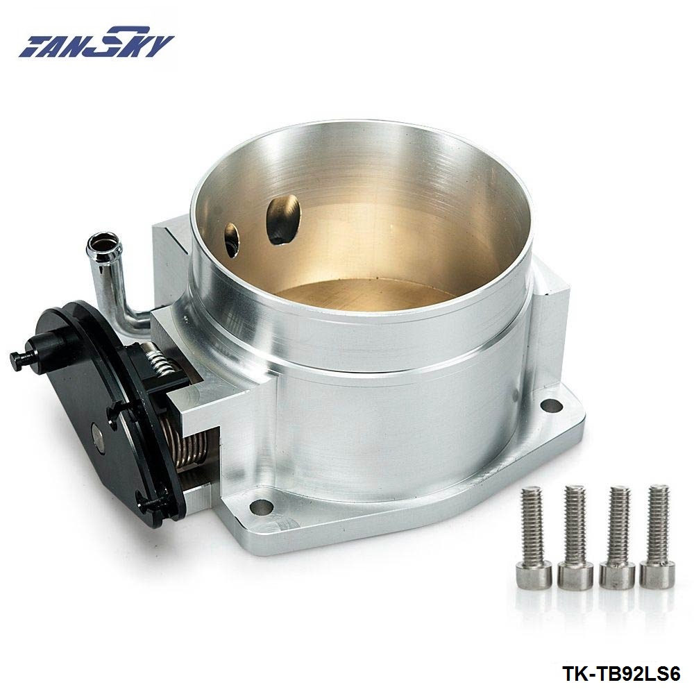 Aluminum 92MM Throttle Body For Chevy Gen III Ls1 Ls2 Ls6 Ls3 Ls Ls7 Sx Ls Cable Intake Manifold TK-TB92LS6 free shipping new throttle body 92mm for gm gen iii ls1 ls2 ls6 throttle body for ls3 ls ls7 sx ls 4 bolt cable vr6937