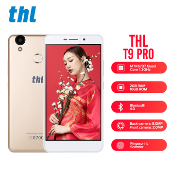 THL T9 Pro Android 6.0 5.5 pouce 4g Smartphone MTK6737 Quad Core 1.3 ghz 2 gb RAM 16 gb ROM D'empreintes Digitales Scanner Bluetooth 4.0 GPS