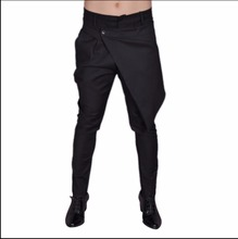 27-44 NEW ! Men's informal overalls pants character disassembly culottes slim taper pants hairstylist trousers costumes skirt