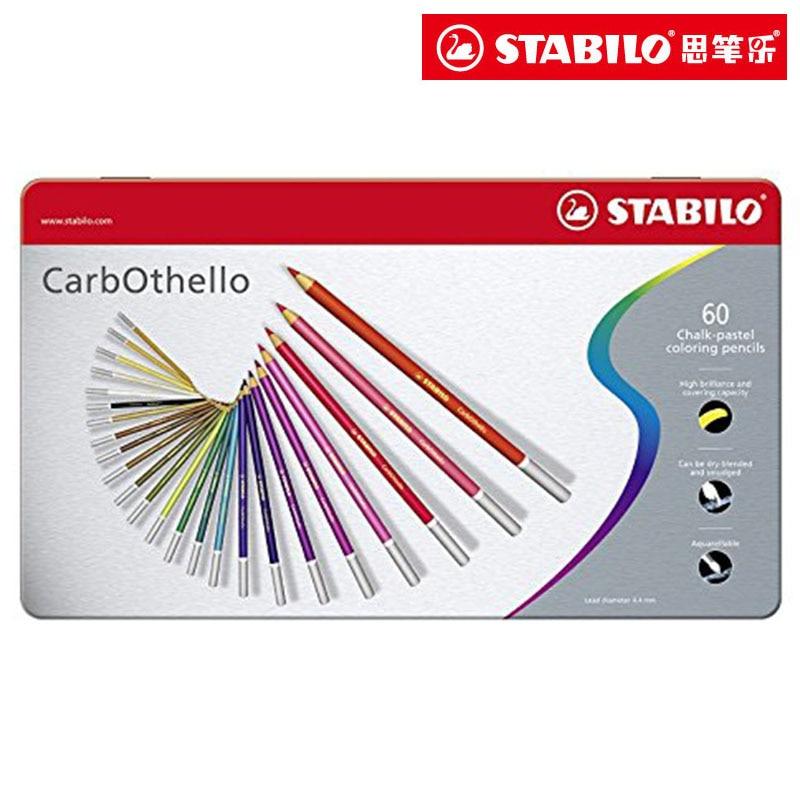 Stabilo Carbothello crayons de couleur 4.4mm pointe craie Pastel crayon 12/24/36/48/60 couleurs aquarelle peinture pour dessin, coloriageStabilo Carbothello crayons de couleur 4.4mm pointe craie Pastel crayon 12/24/36/48/60 couleurs aquarelle peinture pour dessin, coloriage