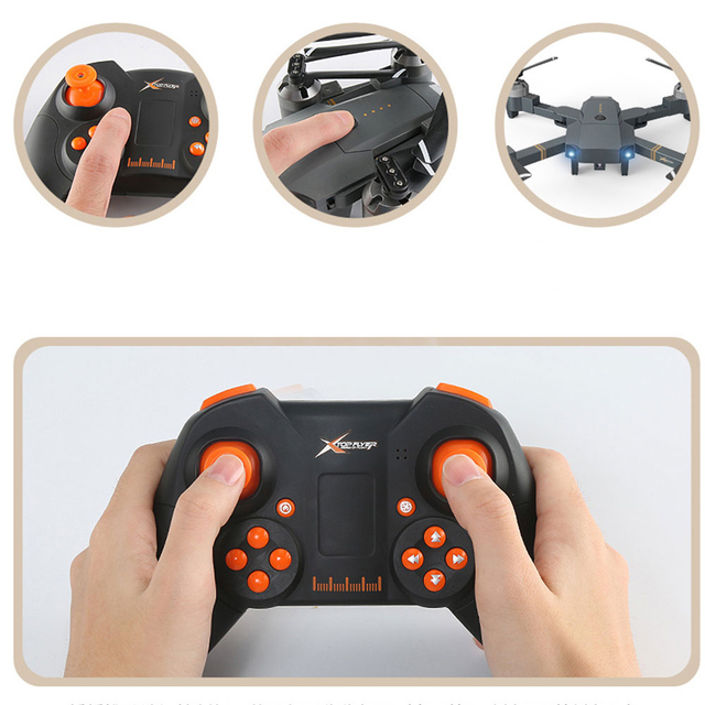 lensoul XT-1  headless Mode 2.4GHz 4CH Full HD 1080P camera Drone throwing mode fixed high folding UAV receiving packet  4