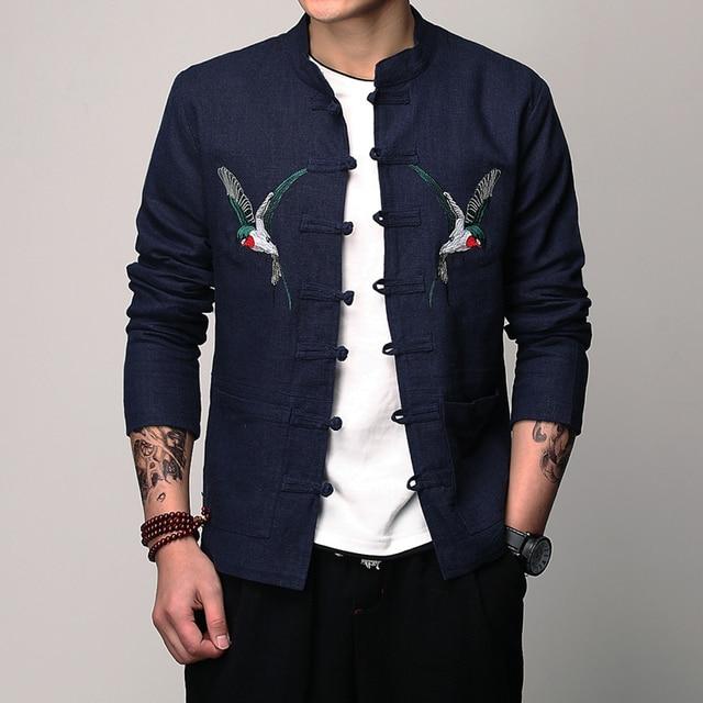7d37afef8a49f Chaquetas manga larga para hombre Lino moda negocios ocio 2017 nuevos  hombres del estilo chino mejor