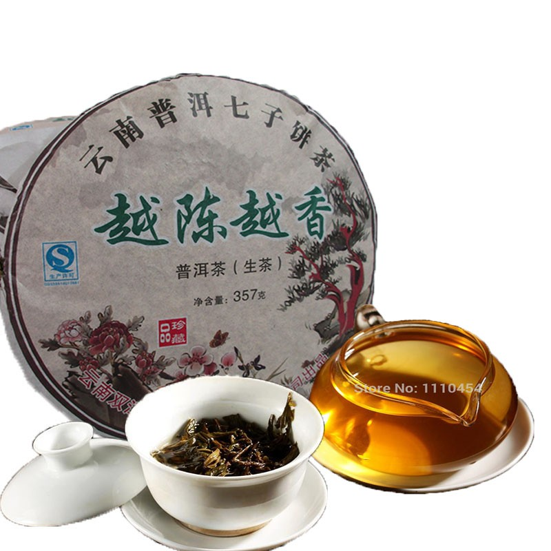 Promotion! top-rated! Free shipping! China naturally organic tea Pu er tea health care tea puer 357g yunnan Puer tea Green Food