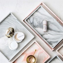 Nordic Modern Marble Ceramic Storage Plates Jewelry Storage Tray Creative Plates Fruit Candy Dish Home Decoration Accessories