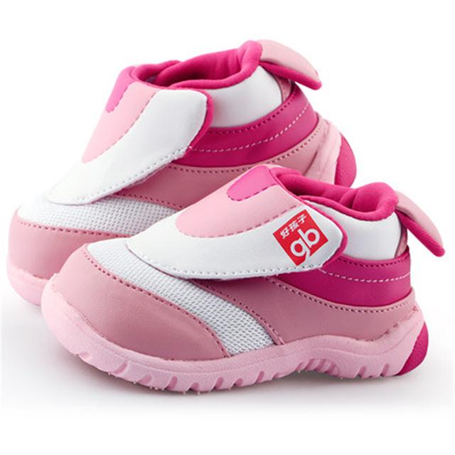 Suela blanda Primer Caminante Del Bebé Zapatos Antideslizantes Calzado Lindo 2017 Nuevo De Algodón de Moda de Alta Calidad Zapatos de Bebé Recién Nacido 70A1074