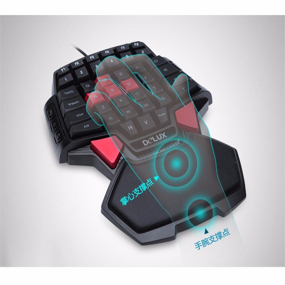 1 Stück Tragbare 41-schlüssel Verdrahtete Einzel-handed Tastatur Für Home & Office & Computer & Tablet Computer & Spiel Angemessener Preis