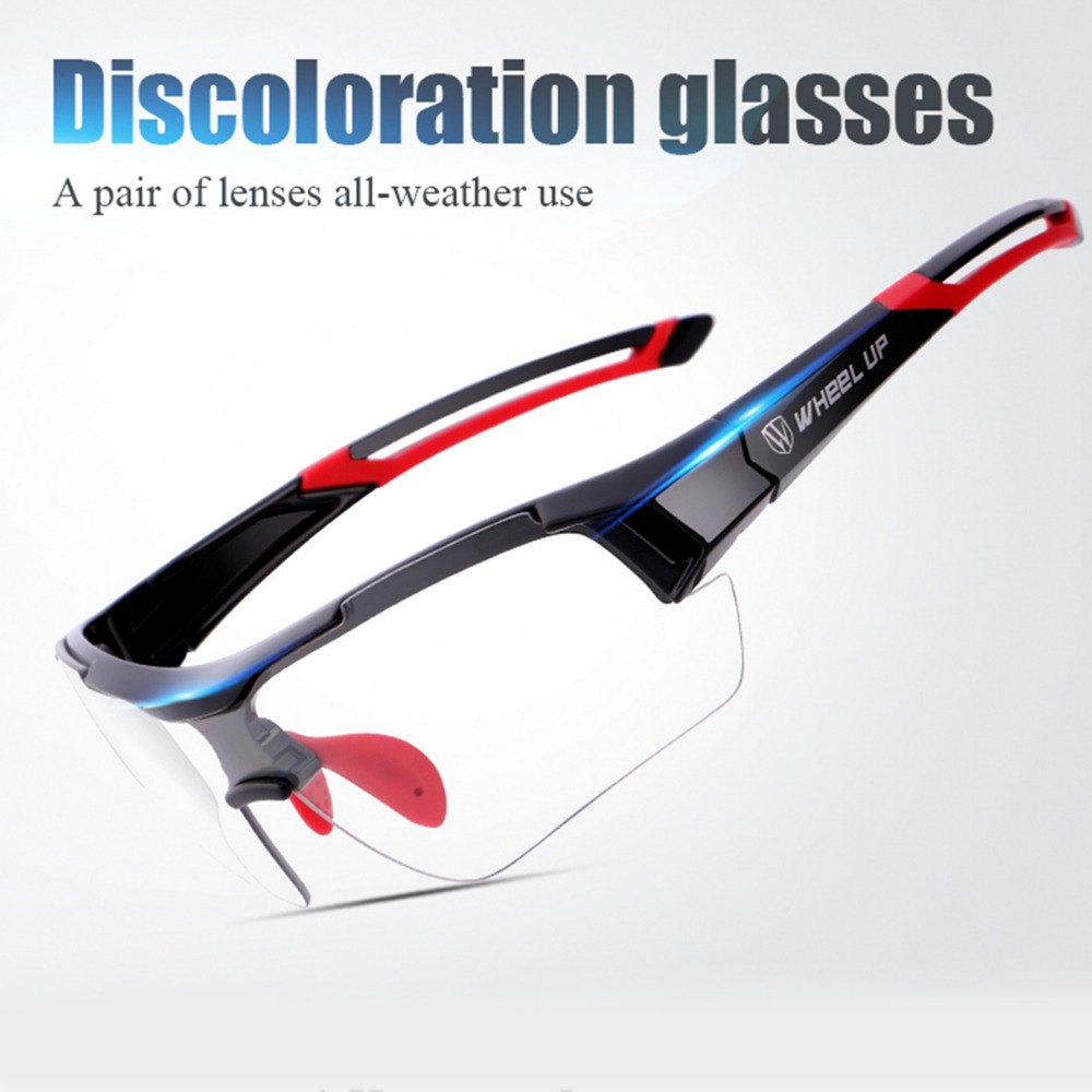WHEEL UP Photochromic Sunglasses Cycling Goggles Polarized Discoloration Glasses Men Women Mountain Road Bicycle Sport Eyewear цена 2017
