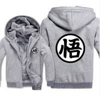 2018 New Fashion Thick Men S Hoodie Anime Seven Dragon Ball Hoodie Casual Cardigan Jacket Zipper