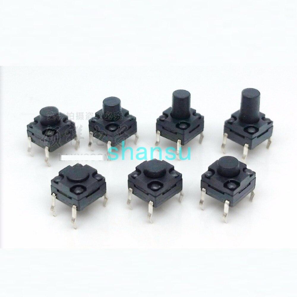 Водонепроницаемый сенсорный выключатель света 12*12*9 мм DIP 4 фута микро-действие переключатель 12x12x9 мм вертикальный четырехфутовый контроль п...