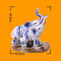 Elephant Figurine For Home Decor Ceramic Decoration Accessories Miniature House Souvenirs Crafts Miniatures Ornaments Sculpture